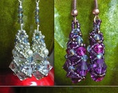 Instant Download TUTORIAL  Beaded Earrings  - Jewelry Tutorial No 40  for Crystal and Pearl Beaded Earrings.