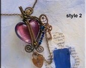Instant Download TUTORIAL Jewelry Pendant No 67 Wire Wrapped Steampunk Two styles..make now for mothers day