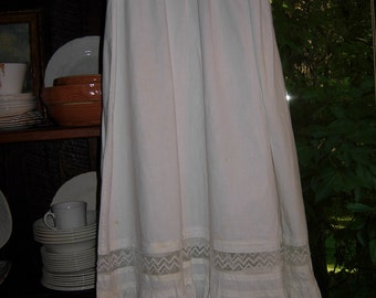 antique girl's slip with lace