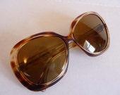 1960s sunglasses / Huge Oversized Vintage 60's Unique Italian Sunglasses