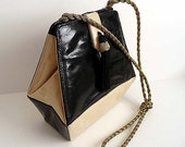 Origami Vintage 80's Two Tone SnakeSkin Bag