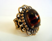 1960s ring / Big Chunky Vintage 60's Modernist Ring Signed