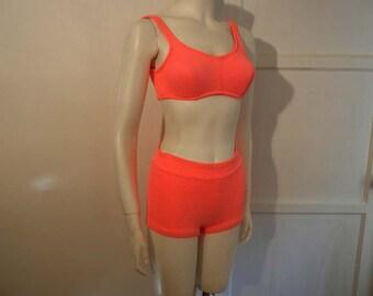 vintage 60s swimsuit / Neon Dazzler Vintage 1960's Jantzen Bikini Swimsuit