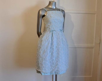 1950s dress / Punker Up Vintage 50's Baby Blue Party Dress