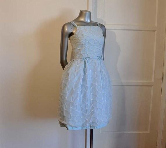 1950s dress / Punker Up Vintage 50's Baby Blue Party Dress