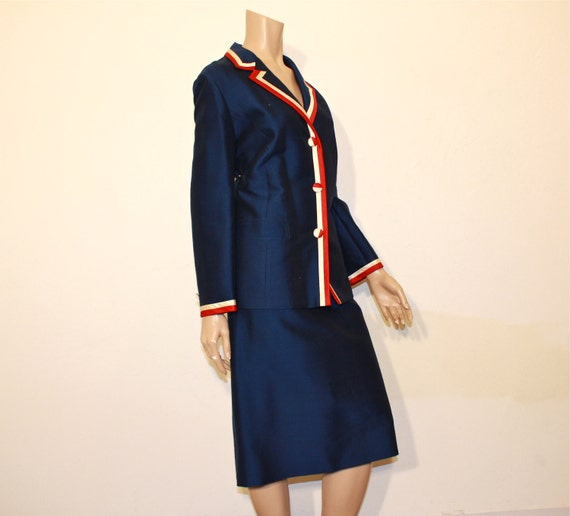 1960s suit / The All American Vintage 60's Mod Red White and Blue Jacket Suit Set