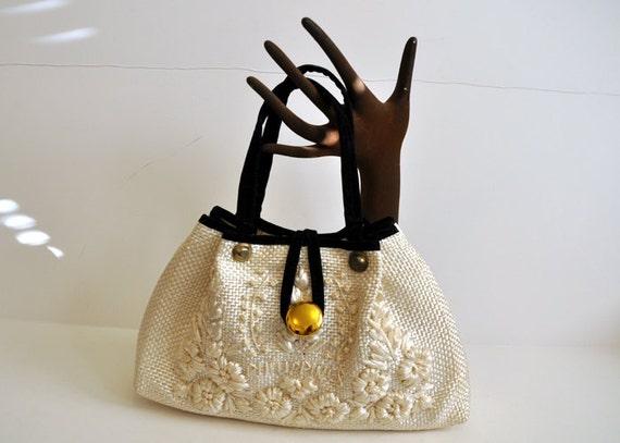1960's Purse / The Last Straw Vintage 60's Bag Purse