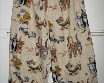 Cute Cat Pajama Bottoms or Lounge Pants