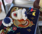 Kate Middleton, Princess Diana,  Royal Engagement Ring Needle Felted Pin Cushion,  made to order