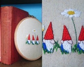 Three Little Gnomes Embroidery