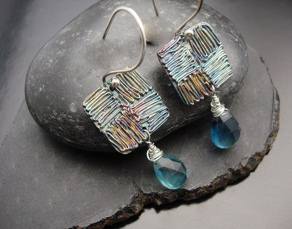I got the Blues - Fine Silver and Blue Fluorite Briolettes
