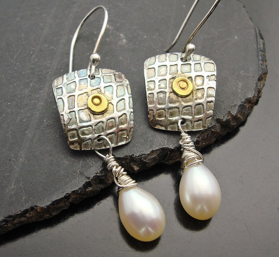 You Can Dress Me Up - Fine Silver and Lusterous Jumbo Teardrop Pearls