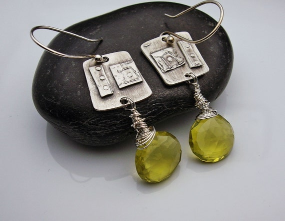 Sassafrass  - Lemon Topaz and Silver Earrings