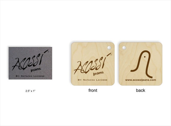 100 ultrasuede tags and 100 double sided wood tags