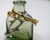 Autumn Jewelry -  Bronze Branch Bangle - Ready to Ship