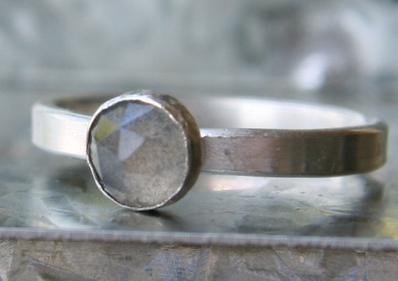 Storm Ring - Labradorite and Sterling Silver