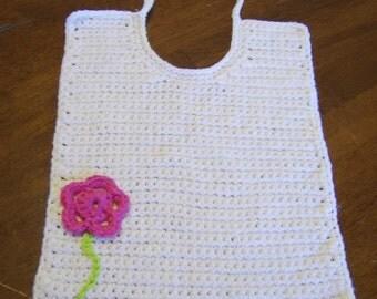 PDF Pattern, Cotton Crocheted bib, Baby Bib, Toddler Bib, Cotton Bib, Crochet Bib pattern