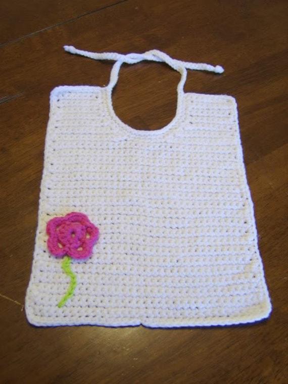 Crochet Cotton Baby Bib Pattern : PDF Pattern Cotton Crocheted bib Baby Bib Toddler Bib
