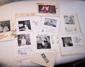 Vintage Christmas Photos 1957-1959 Lot of 8 1950s