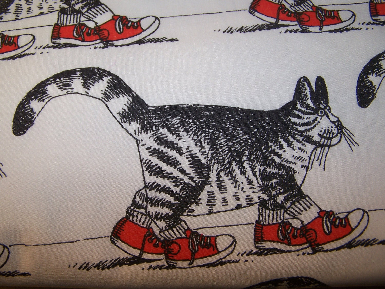 Kliban Cat Bedspread Comforter Sneaker Cat B By
