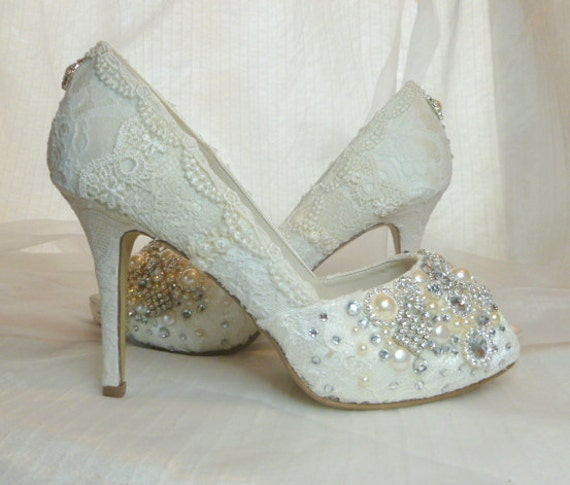 Bridal Shoes Usa: Sparkly High Heel Wedding Shoes... By Everlastinglifashion