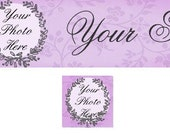 Etsy Shop Banner and Avatar / Victorian Frames with Your Photos  Added / Digital - OOAK (317)