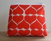 Organic Valentine Purse - Kimono Red
