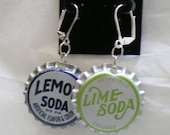 LEMON LIME SODA BOTTLE CAP Earrings