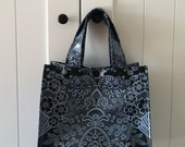 Beth's Gray/Black Paradise Oilcloth Lunch Box