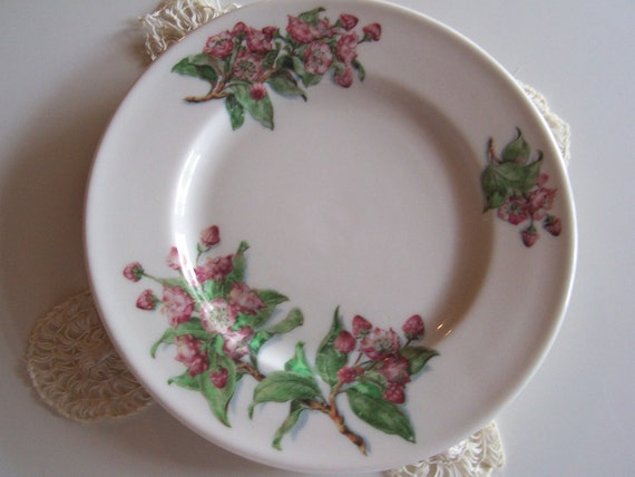 Vintage Lamberton Scammell China - beautiful Mountain Laurel Pattern bread/butter plate-made for the Pocona Manor Inn