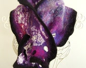 SALE The Milky Way A nuno felt scarf scarflette by Arc En Ciel creations