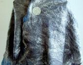 Blue Slate A heart felt scarf by Arc En Ciel creations