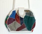 Vintage Multicolour Patchwork Leather Purse