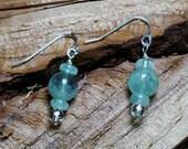 Aquamarine globe earrings