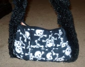 RESERVED FOR FERRYTALES2000 Skull Furry  Handbag purse