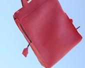 SALE big cheerful laptop bag, ooak, 17 inch macbook