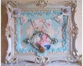 Summer Sale Altered Art Marie Antoinette Ornate Frame