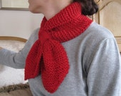 Candy-apple bow-tie Scarflette