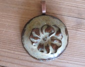 SALE clay pendant