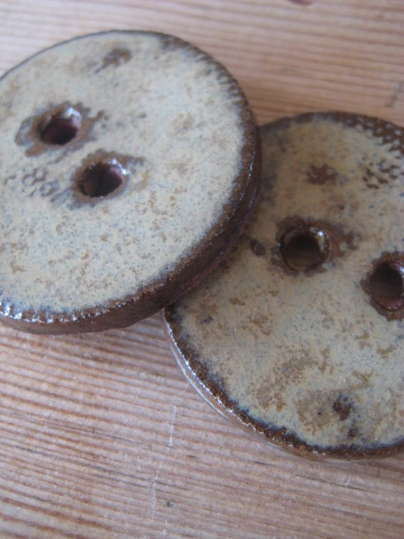 BIG Hand made clay buttons