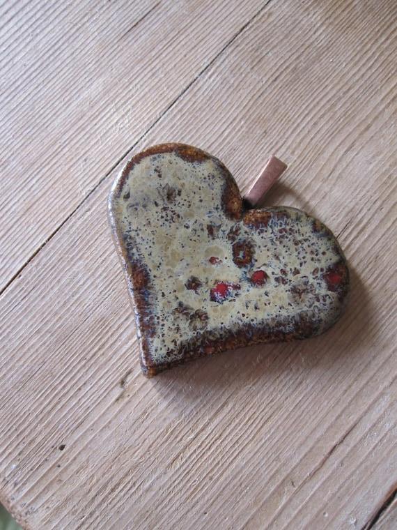 valentine  heart Clay pendant