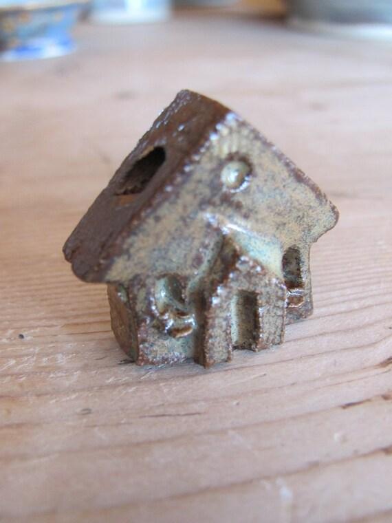 One room schoolhouse Pendant or focal bead