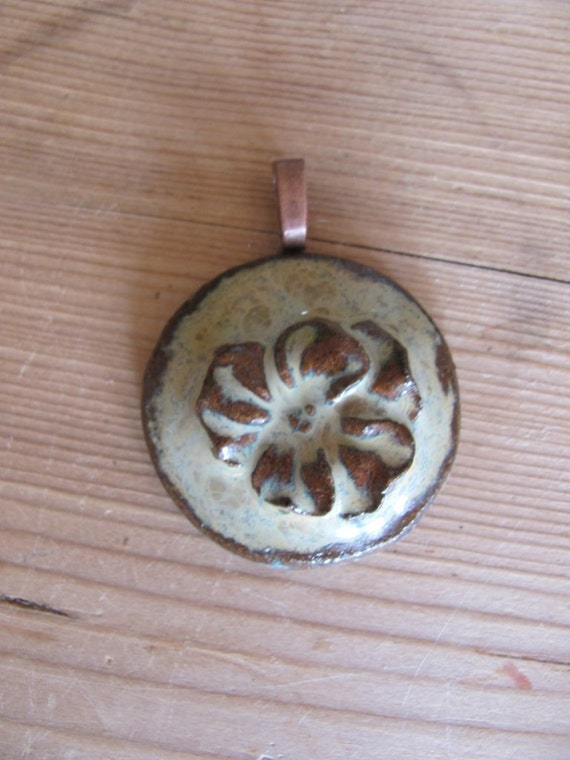 SALE clay pendant