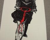 Bear on a Bike - screenprint