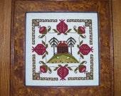 "SALE ""Pomegranate Estate"" cross stitch chart"