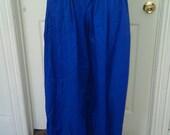 Blue Pirate Harem Pants Ready to Go, SCA, LARP. Renaissance Faire