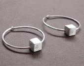 Cube Hoop Earrings by Squirrelbunny