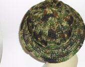 Camouflage Hat Wide Brim Crochet  Fishing Hat Duck Dynasty Fashion