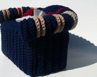 Tissue Box Cover Man Cave Decor Crochet Couch