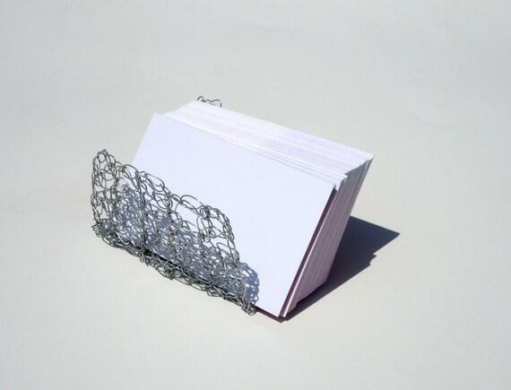 Handmade Silver Business Card Holder Statement Piece
